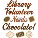 Library Volunteer Chocolate Women's T-Shirt