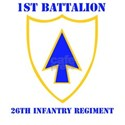 DUI - 1st Bn - 26th Infantry Regt with Text White