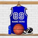 Personalized Basketball Jersey Blue