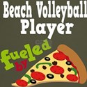 Beach Volleyball Player Fueled By Pizza Tshirts