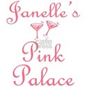 Janelle's Pink Palace White T-Shirt