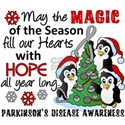 Holiday Penguins Parkinsons White T-Shirt