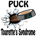 Puck Tourette's Syndrome White T-Shirt
