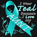 I Wear Teal Because I Love My Aunt T-Shirt