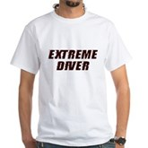 Extreme Diver White T-Shirt