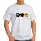 Peace Love Dive Light T-Shirt