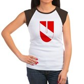 Scuba Flag Letter U Women's Cap Sleeve T-Shirt