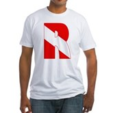 Scuba Flag Letter R Fitted T-Shirt