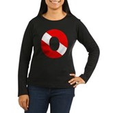 Scuba Flag Letter O Women's Long Sleeve Dark T-Shi
