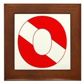 Scuba Flag Letter O Framed Tile