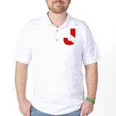 Scuba Flag Letter J Golf Shirt