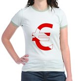 Scuba Flag Euro Sign Jr. Ringer T-Shirt