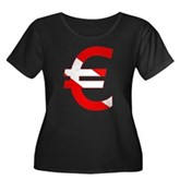 Scuba Flag Euro Sign Women's Plus Size Scoop Neck