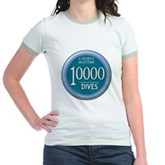 10000 Dives Milestone Jr. Ringer T-Shirt