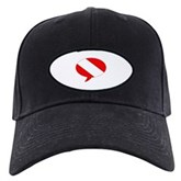 Text Bubble Dive Flag Black Cap
