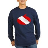 Text Bubble Dive Flag Long Sleeve Dark T-Shirt
