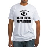 Night Diving Department Fitted T-Shirt