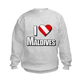 Scuba: I Love Maldives Kids Sweatshirt