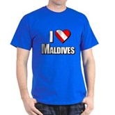 Scuba: I Love Maldives Dark T-Shirt