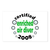 Enriched Air Diver 2008 Postcards (Package of 8)