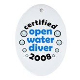 Open Water Diver 2008 Oval Ornament