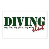 Diving Slut Rectangle Sticker