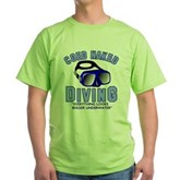 Coed Naked Diving Green T-Shirt