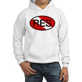 RES Oval Scuba Flag Hooded Sweatshirt