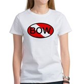BOW Oval Dive Flag Women's T-Shirt