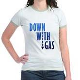 Down With Gas Jr. Ringer T-Shirt