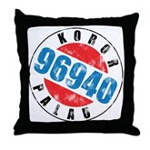 Vintage Koror Palau 96940 Throw Pillow