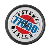Cozumel Mexico 77600 Large Wall Clock