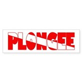 Plongee French Scuba Flag Bumper Sticker