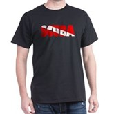 Scuba Text Flag Dark T-Shirt