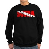 Scuba Text Flag Sweatshirt (dark)