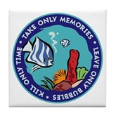 Take Only Memories (fish) Tile Coaster