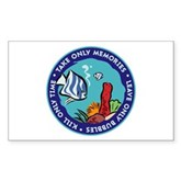Take Only Memories (fish) Rectangle Sticker