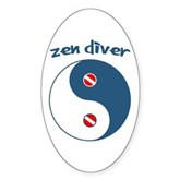 Zen Diver Oval Sticker