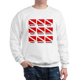 Dive Flags of the World Sweatshirt