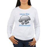 Save the Manatees Women's Long Sleeve T-Shirt