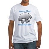 Save the Manatees Fitted T-Shirt